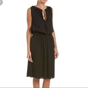NWT Theory silk black dress
